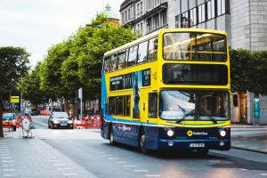 Header photo of a Dublin bus