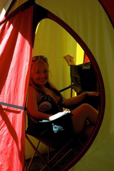 Inside the Tent Sauna