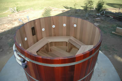 Eight person hot tub by Ukko Saunas