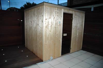 Narva 2.5 x 2.0m Ukko sauna installed in Kellyville, NSW