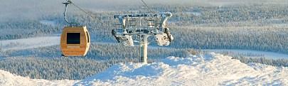 Skylift sauna in Lapland, Finland
