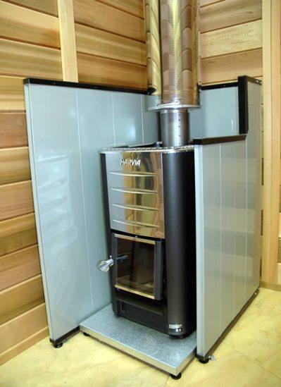 Wood fired sauna heater