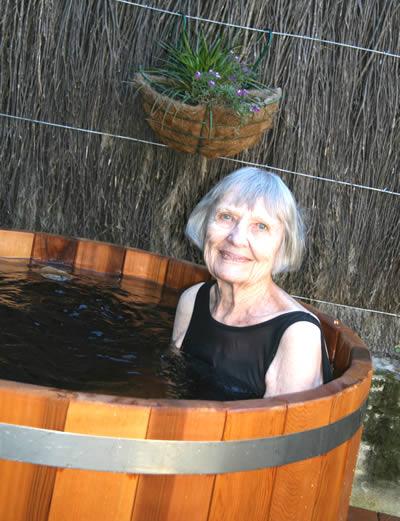 Enjoying Ukko Hot Tub