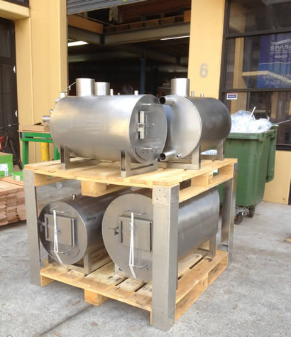 Wood fired heaters delivered