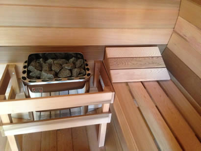 6.0kW sauna heater with built-in controls and rocks...