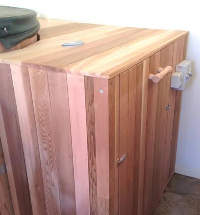 Enclosure Cedar door