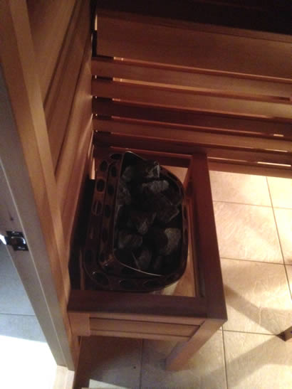 6.0kW wall mounted stainless steel sauna heater with rocks...