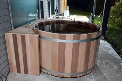 Ukko Cedar hot tub from the other side