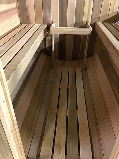 Installing sauna benches