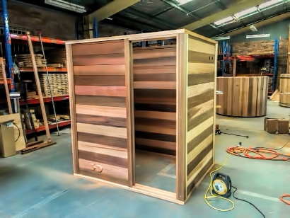 Assembled sauna structure