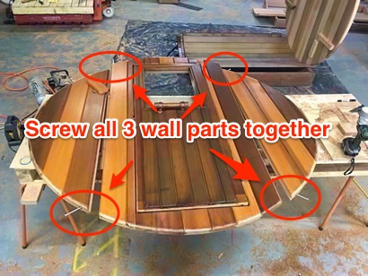 Barrel front wall assembly