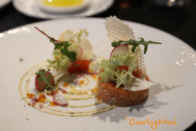 Le Tartare de Saumon:冷盤,三文魚他他配脆薯,三文魚新鮮味美。
