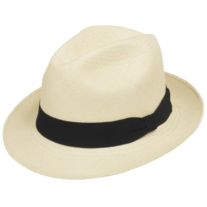 Casablanca Classic Straw Fedora Panama Hat