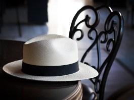 Panama hat on table