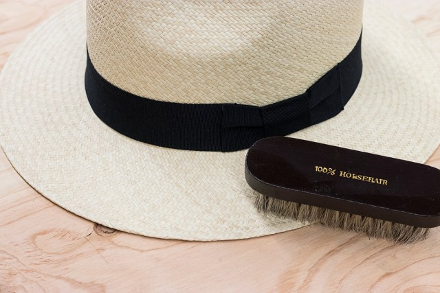 Panama Hat Care - horsehair brush