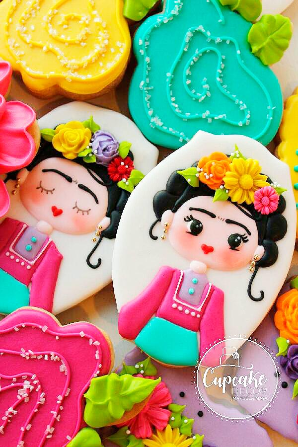 Ideas galletas Frida Kahlo