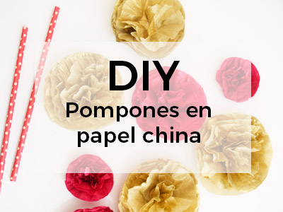 DIY Pompones de papel china