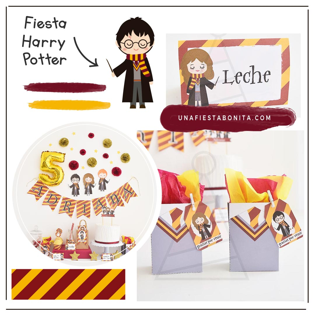 Kit imprimible para fiestas temáticas harry potter