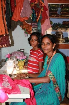 Shaheen, mother of a CFCA sponsored child in India