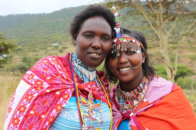 From left: Ann with her daughter Sophia in Kenya.