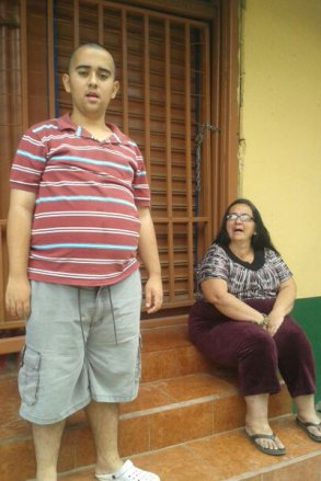 Ulises with his mother, Marjorie.