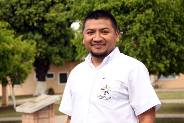 Victor Mendez, a member of the accounting team in Unbound's San Salvador office.