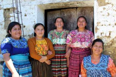 These Guatemalan mothers work together to earn money to support their families.