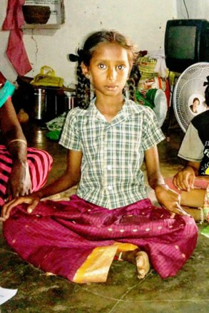 Deepiga, 10-year-old sponsored child in India.