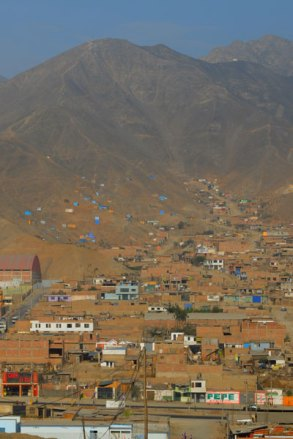 Nestled in steep, dry hills is the Manchay region outside of Lima, Peru.