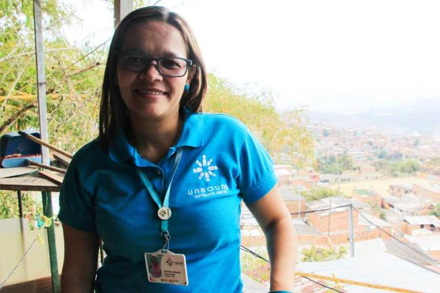 An image of an Unbound staff member standing outside.