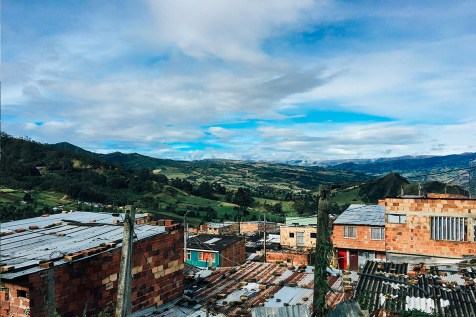 A neighborhood outside Bogota, Colombia, where families served by Unbound live. Awareness trip participants have the opportunity to visit the homes of sponsored friends and learn first-hand what their daily surroundings are like.