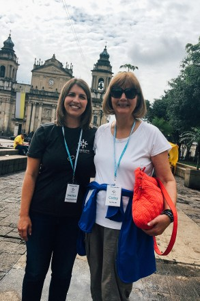 Joanna and her mom in Guatemala City on an Unbound awareness trip.