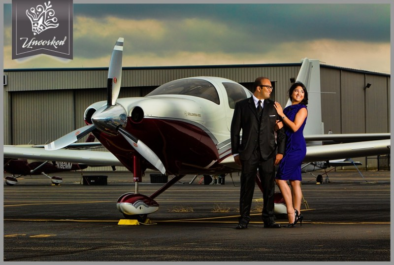 Epic cloudy day engagement session at an airport with a beautiful indian couple - © 2013 Uncorked Studios, LLC - Destination & Philadelphia Pennsylvania Wedding Photographer
