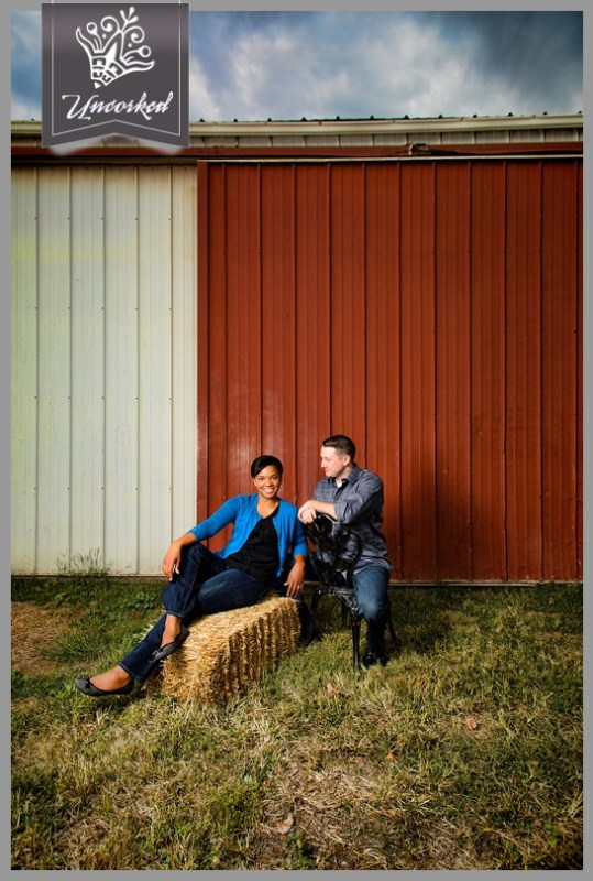 Moody engagement session outside a barn in wine country - © 2013 Uncorked Studios, LLC - Destination & Philadelphia Pennsylvania Wedding Photographer