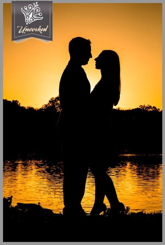 Romantic silhouette at dusk - © 2013 Uncorked Studios, LLC - Destination & Philadelphia Pennsylvania Wedding Photographer