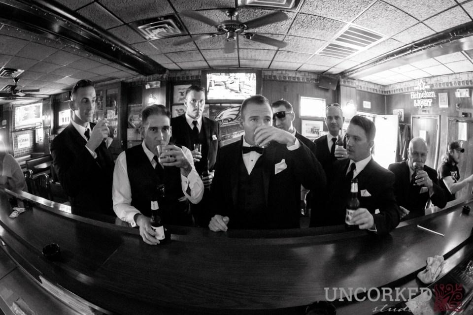 Groomsmen bar stop