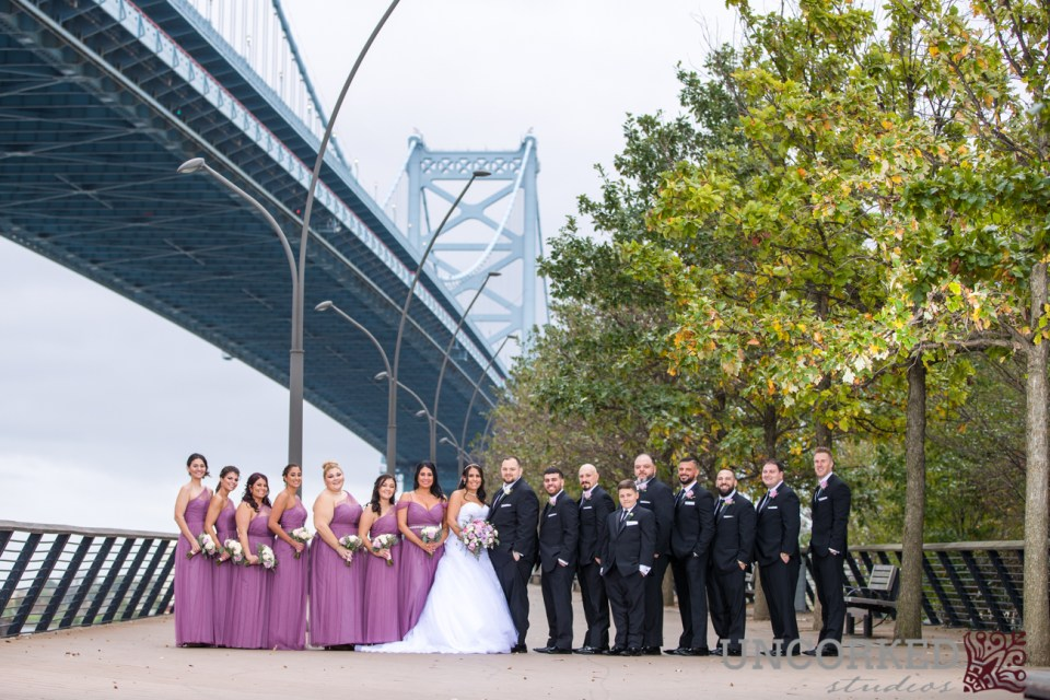 Race Street Pier Wedding Party