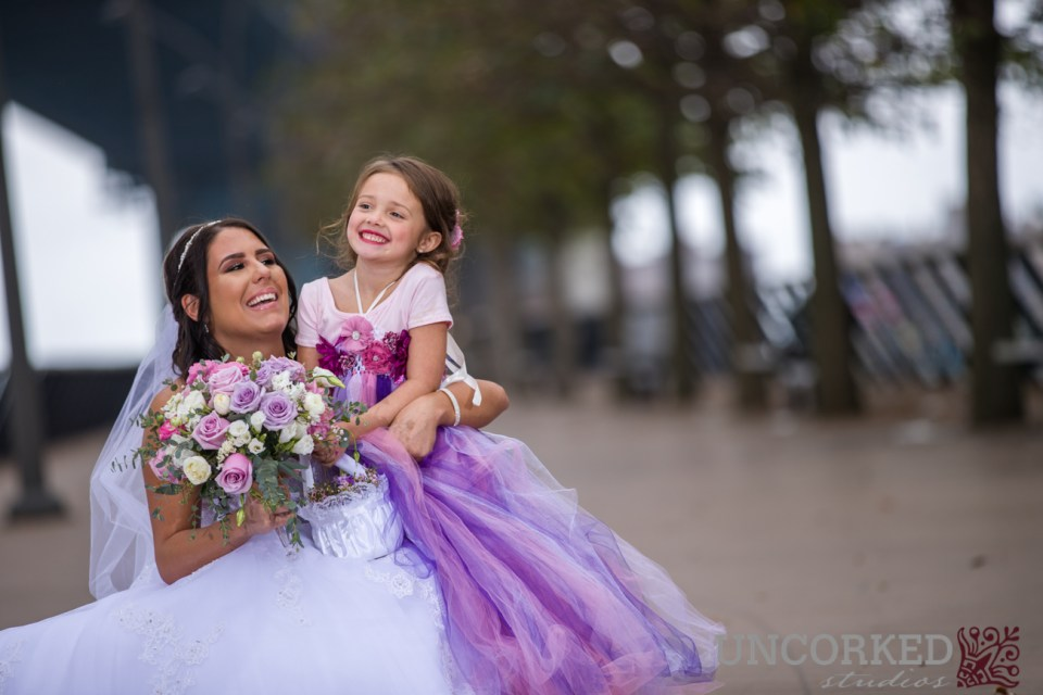 giggling flower girl