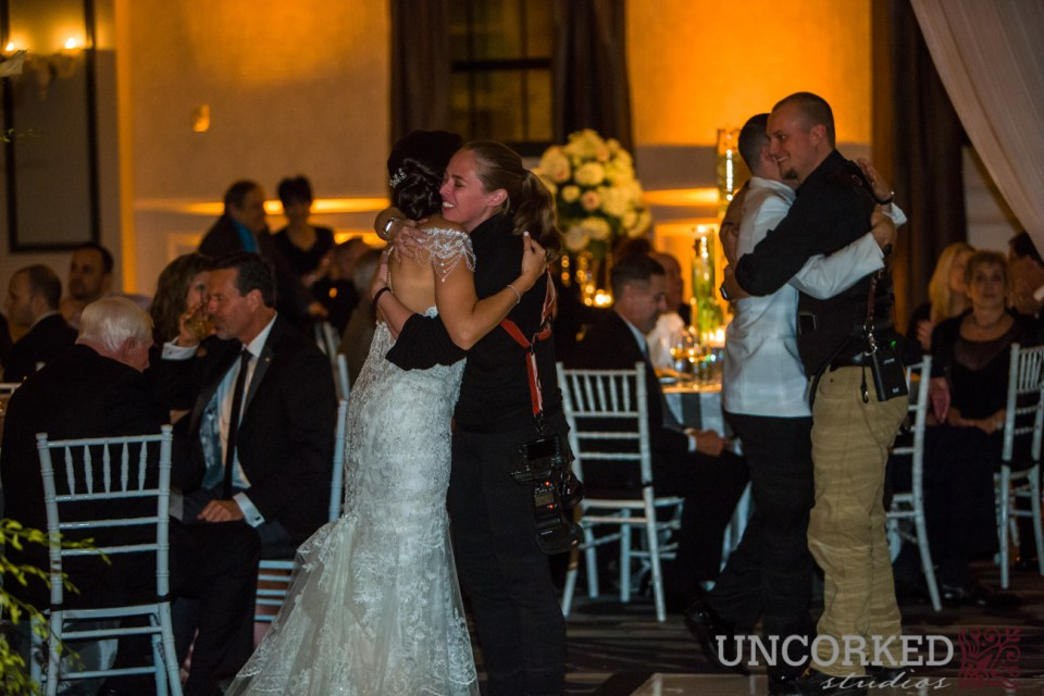 hugs from the newlyweds to Uncorked Studios