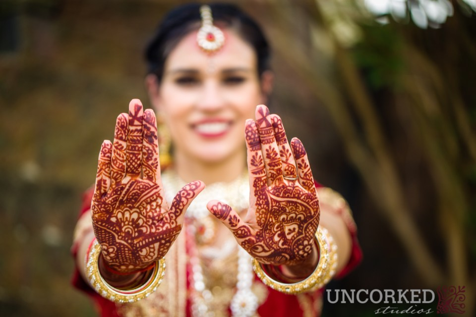 Mehendi of the bride