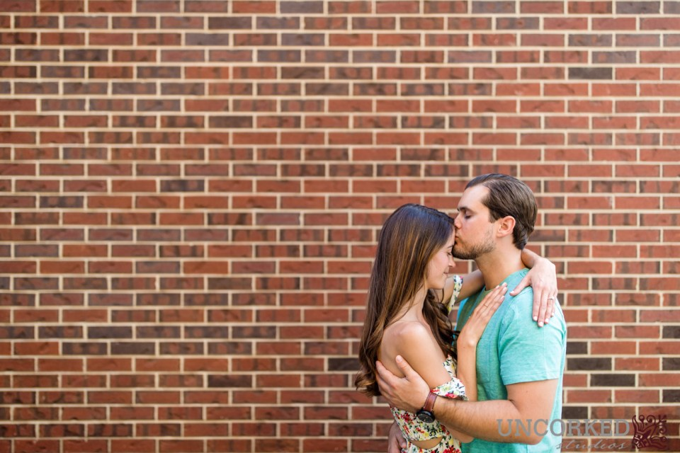 A kiss on the head at this engagement session