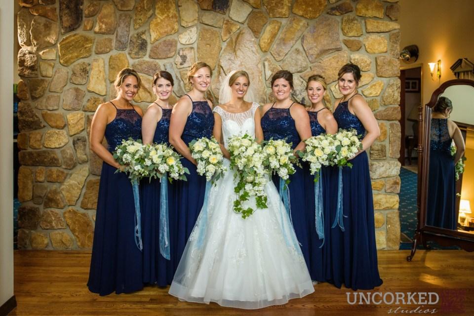 Mori Lee blue bridesmaids dresses