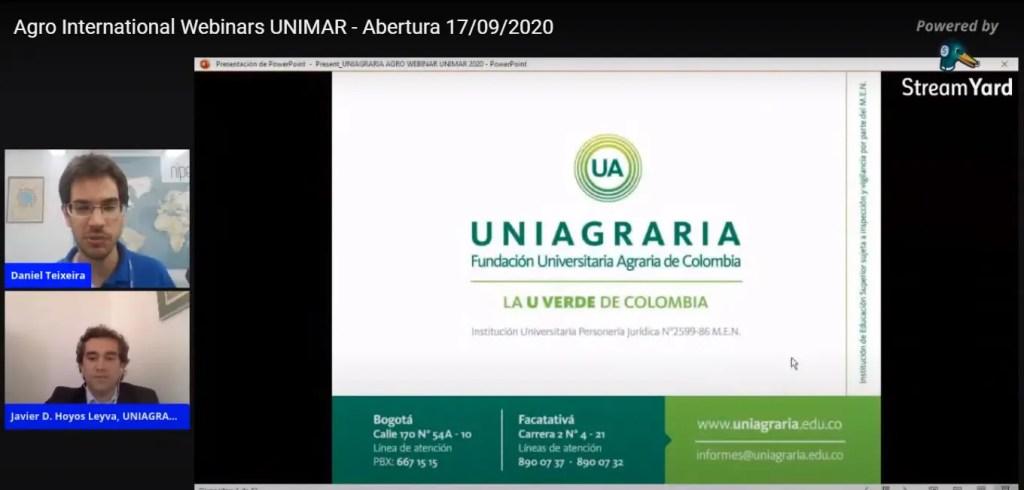 Abertura do 1º Agro Internacional Webinar