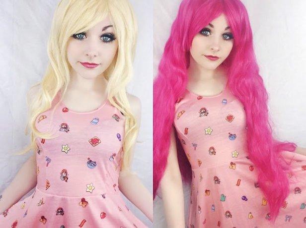pink nd blonde
