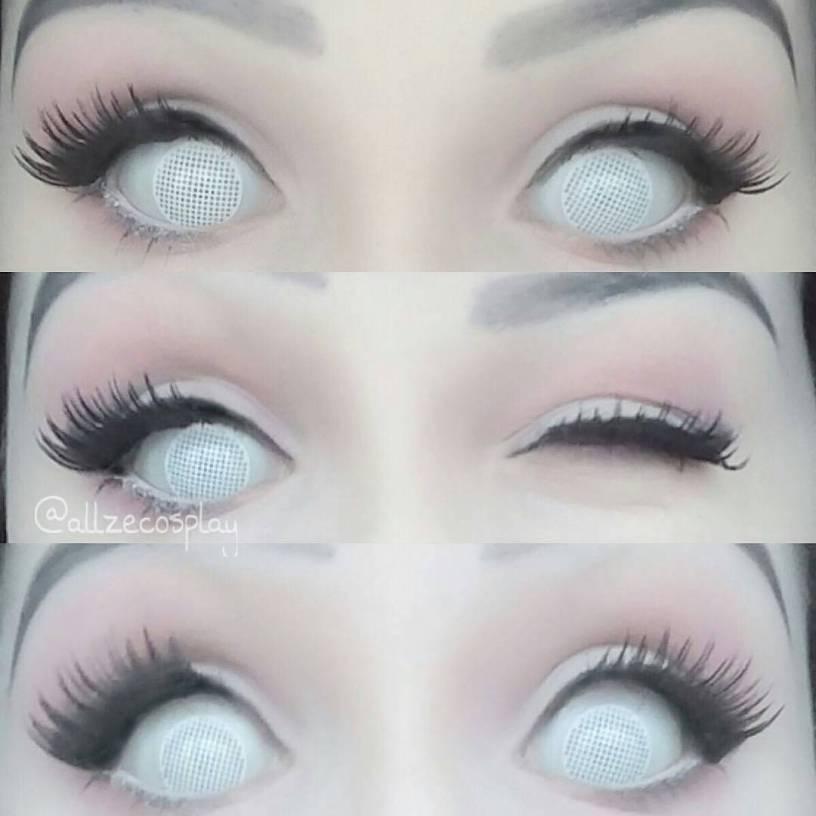 Mesh white crazy lenses