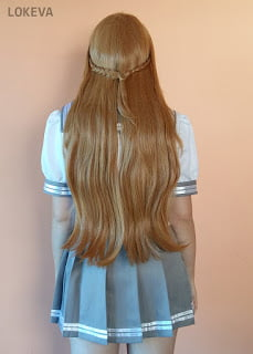 Asuna wig with braids on