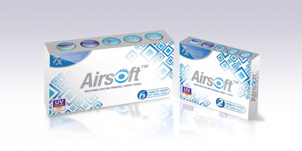 Airsoft Silicone hydrogel contact lenses