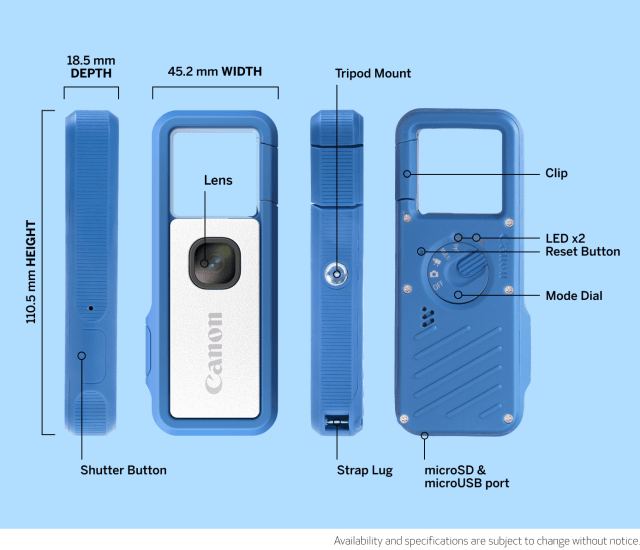 Spesifikasi Clippable Camera Ivy Rec