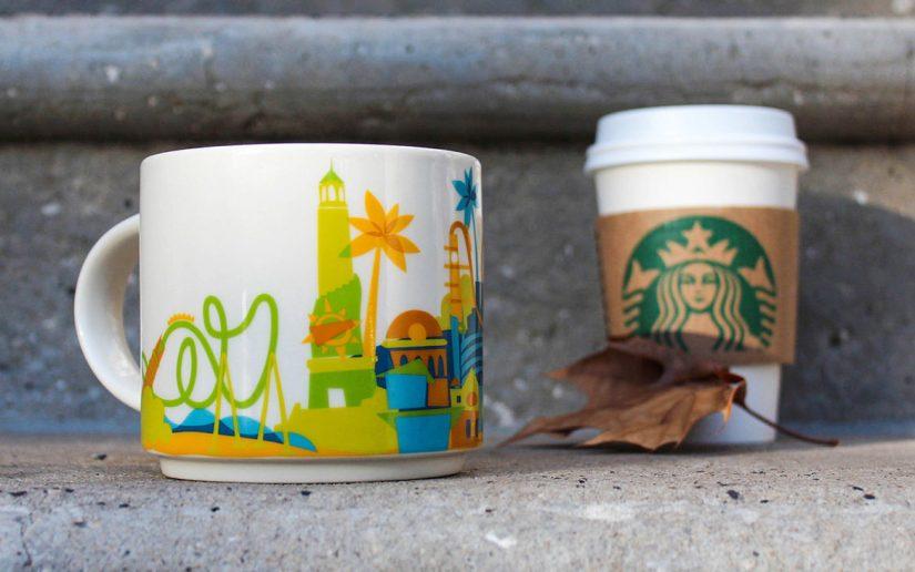 Take a sip out of the new exclusive Universal Orlando Resort Starbucks mug.