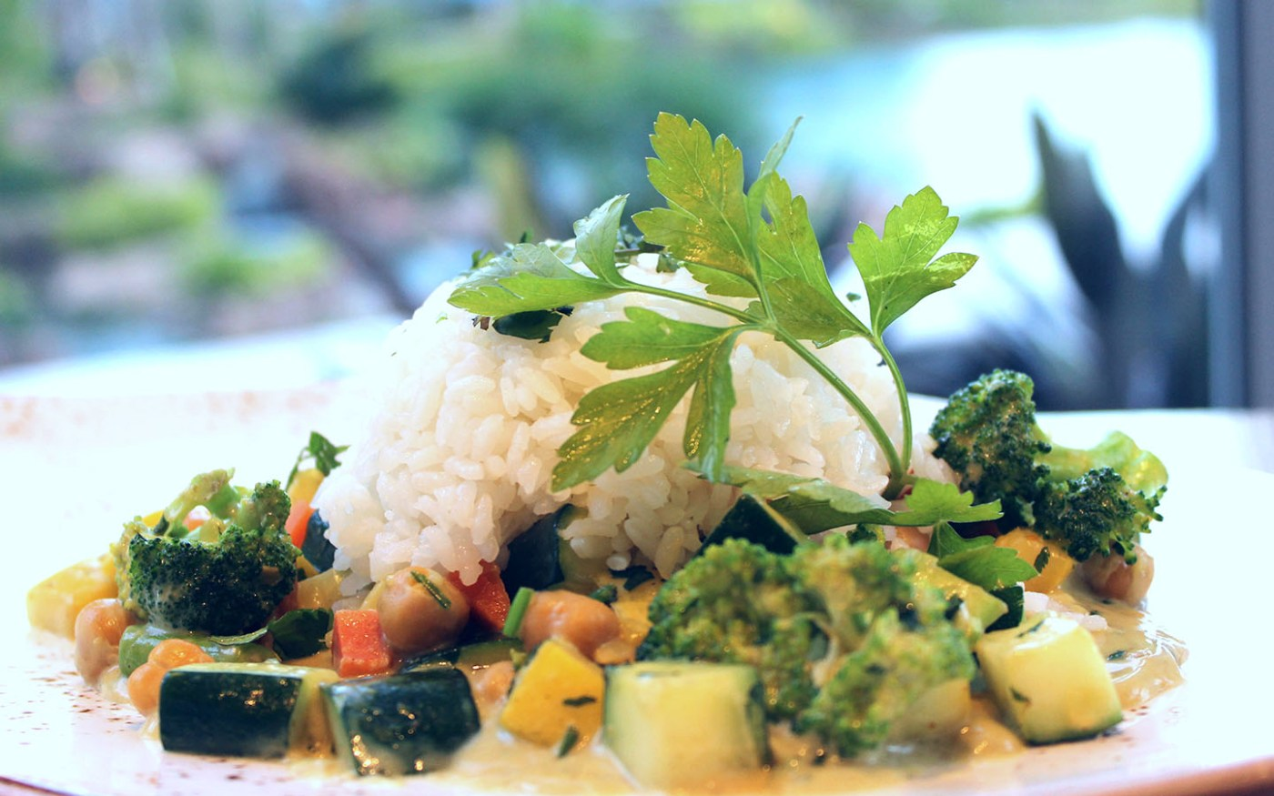 West Indian Vegetable Curry from Amatista Cookhouse at Loews Sapphire Falls Resort.